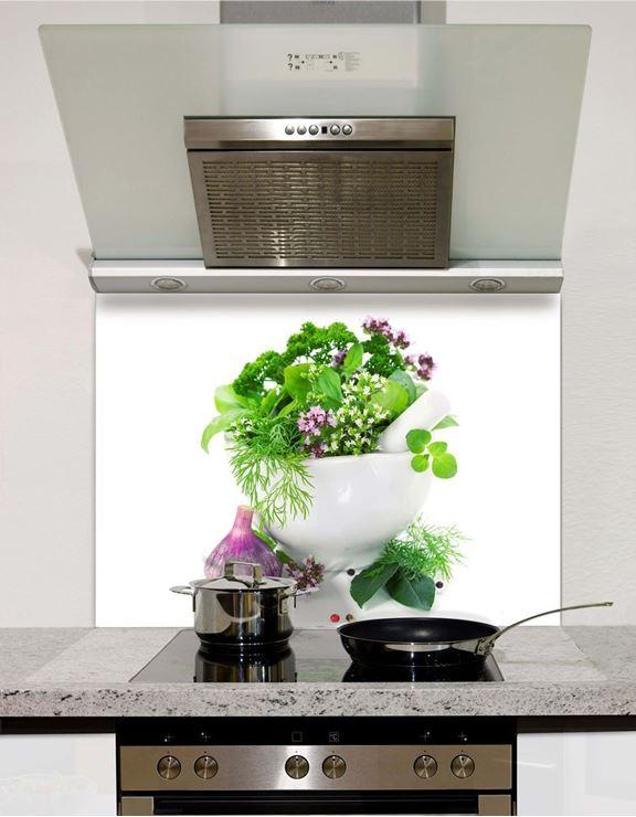 Picture of Herbs Glass Splashback (standard size)