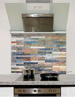 Picture of Colourful stone wall tiles Splashback (standard size)