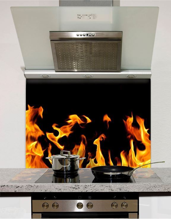 Picture of Flames Glass Splashback (standard size)