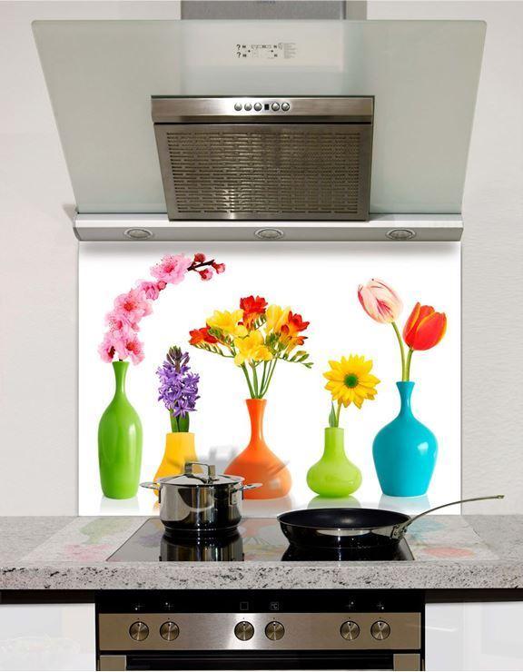 Picture of Flower Vases Glass Splashback (standard size)