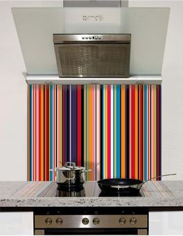 Picture of Multi Stripe Glass Splashback (standard size)