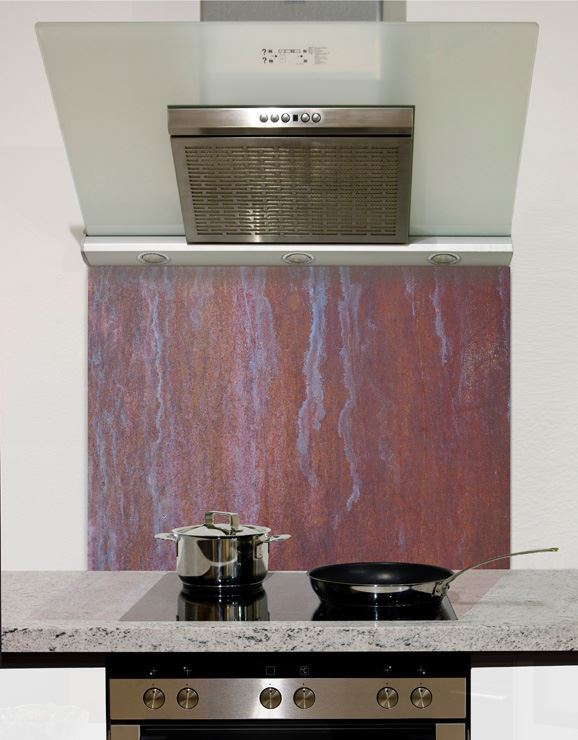 Picture of Rustic Copper Glass Splashback (standard size)