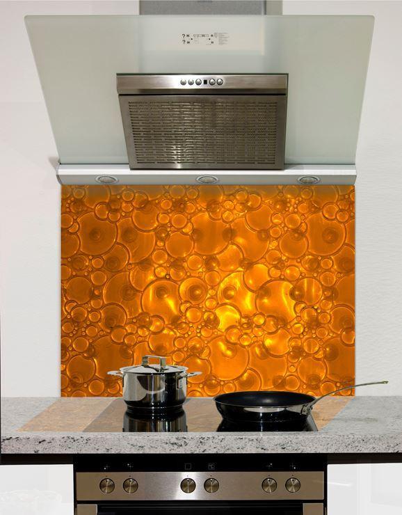 Picture of Copper Bubbles Glass Splashback (standard size)