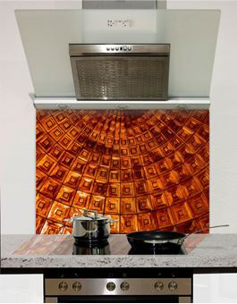 Picture of Copper Cupola Plate Glass Splashback (standard size)