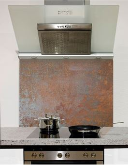 Picture of Rusted Copper Glass Splashback (standard size)