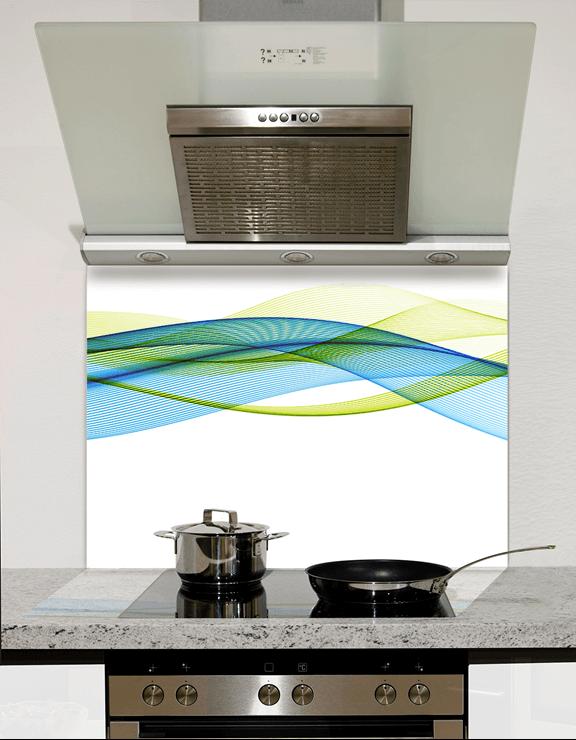 Picture of Waves Designs Kitchen Splashbacks