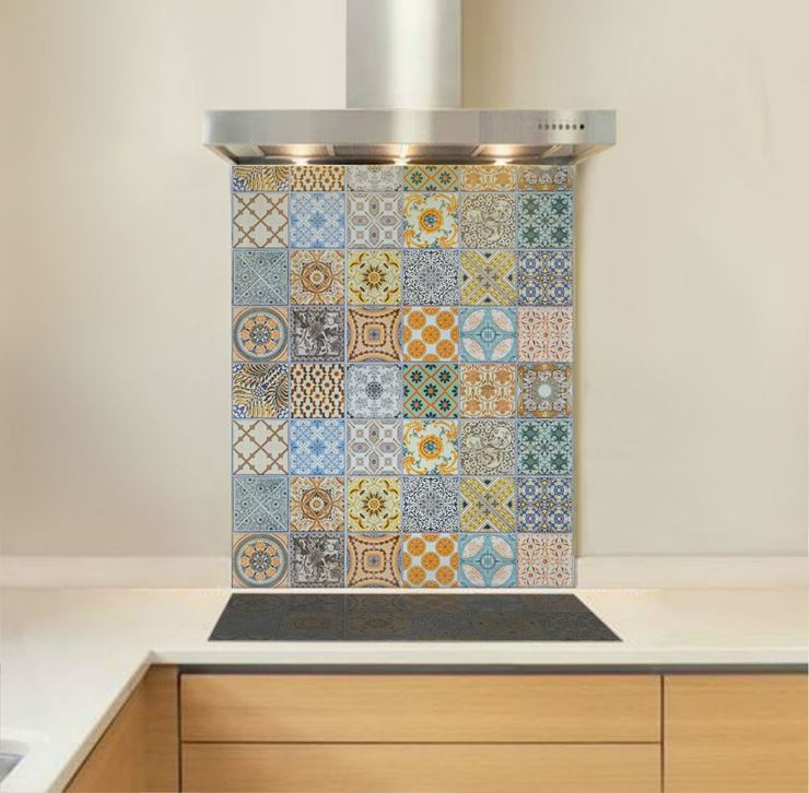 Picture of Mixed Tile Print Splashback