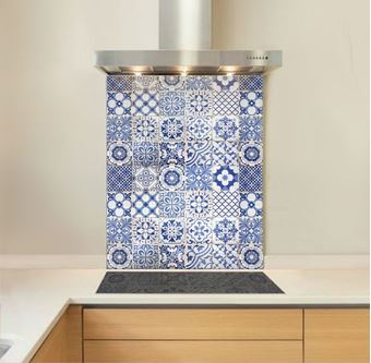 Picture of Sea Blue Tile Splashback