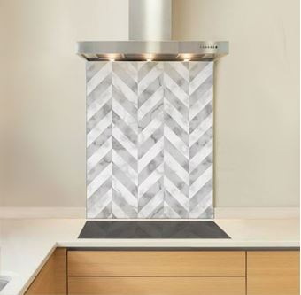 Picture of Grey Marble Chevron Splashback
