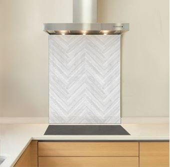 Picture of White Chevron Splashback