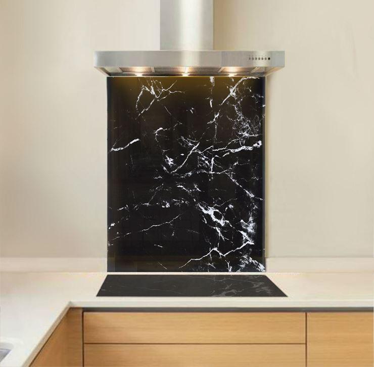 Picture of Black Marble Splashback