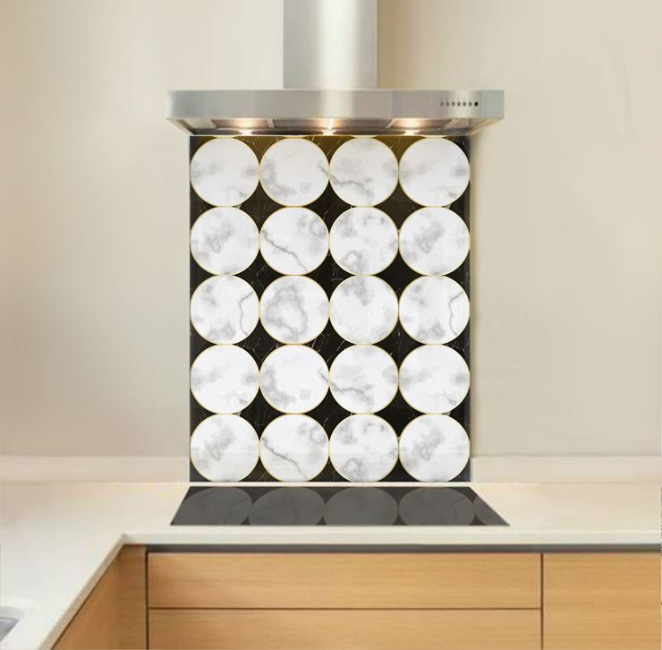 Picture of Marble Circles Splashback
