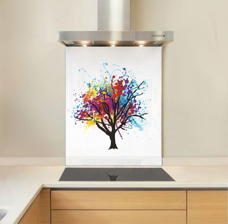 Picture of Rainbow Tree Splashback