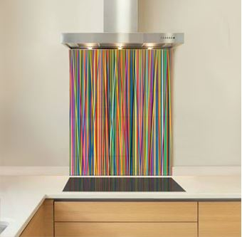 Picture of Colour stripes Splashback