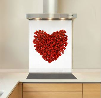 Picture of Heart Petals Splashback