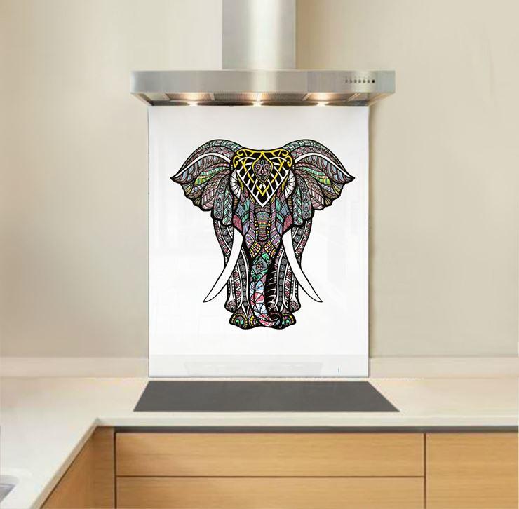 Picture of Indian Elephant Mandala Glass Splashback