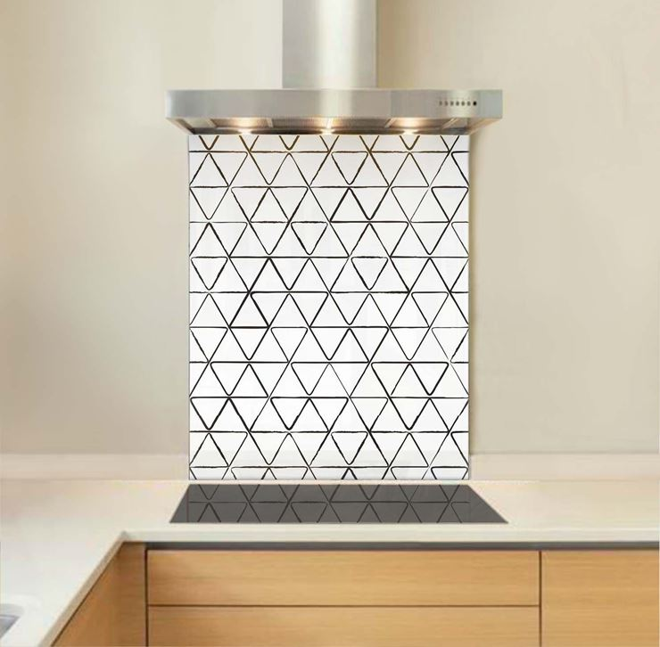 Picture of Sketched triangles Splashback