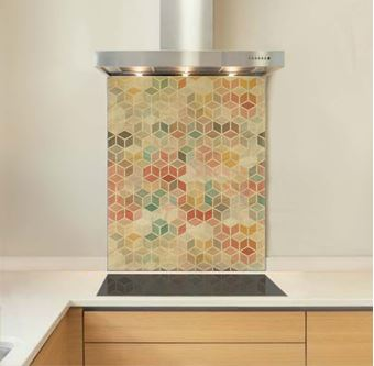 Picture of Pastel cubes Splashback