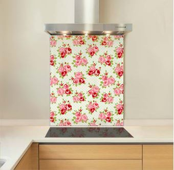 Picture of Emma's Roses Glass Splashback