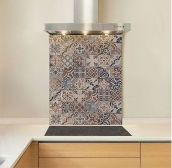 Picture of Antique Cement Tile Splashback (standard size)