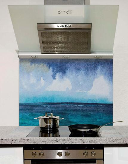 Picture of Watercolour Seascape Splashback