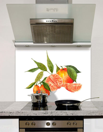 Picture of Watercolour oranges and tangerines Splashback