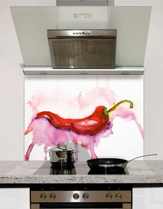 Picture of Watercolour Red Hot Chilli Splashback