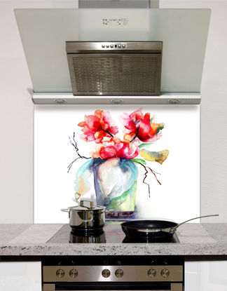 Picture of Watercolour Peony Splashback