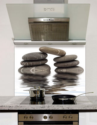 Picture of Pebbles on water Splashback