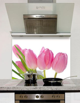 Picture of Pink Tulips in Line Splashback