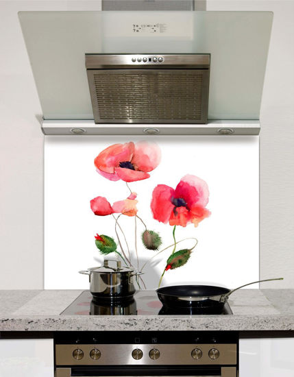 Picture of Stylized Poppy Splashback