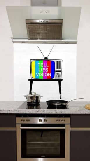 Picture of Tells lies vision testcard testsignal Splashback