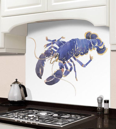 Picture of Barbara Allen Blue Lobster Splashback