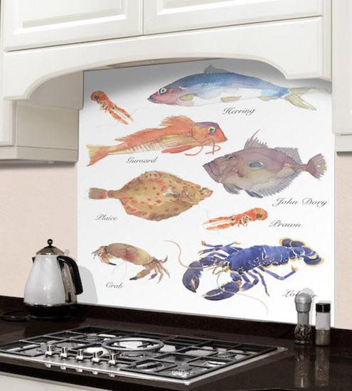 Picture of Barbara Allen Fish Varieties Splashback