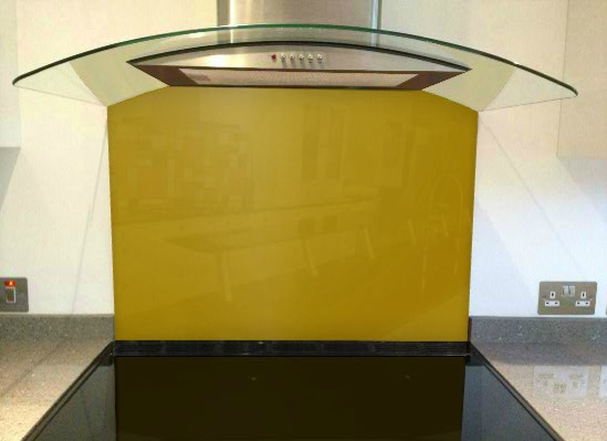 Picture of RAL Honey yellow Splashback