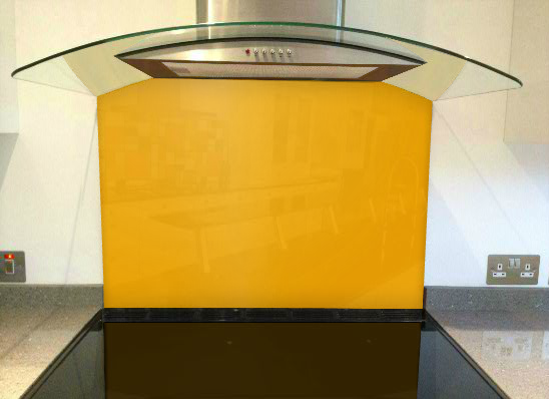 Picture of RAL Dahlia yellow Splashback