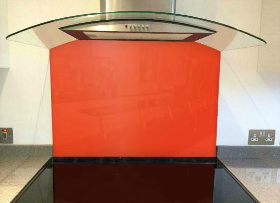 Picture of RAL Traffic orange Splashback
