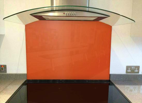 Picture of RAL Signal Orange Splashback