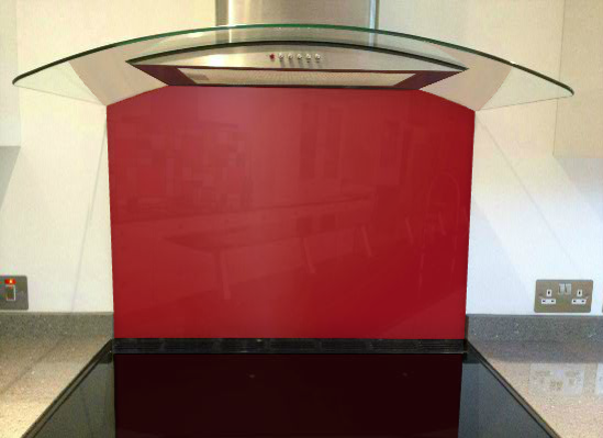 Picture of RAL Ruby red Splashback