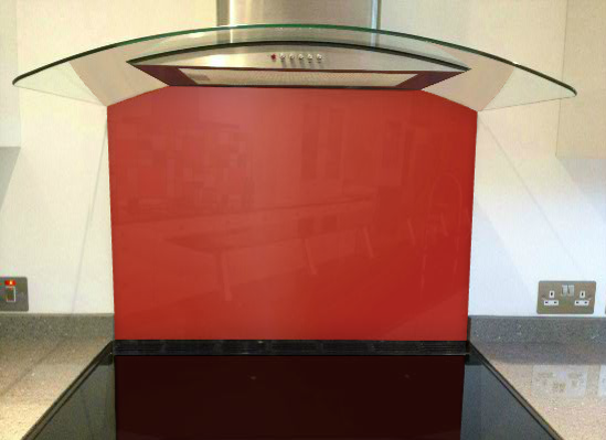 Picture of RAL Coral red Splashback