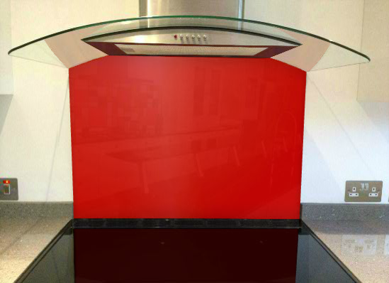 Picture of RAL Traffic red Splashback