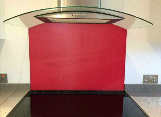 Picture of RAL Raspberry red Splashback