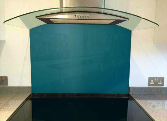 Picture of RAL Azure blue Splashback