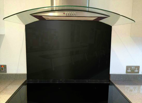 Picture of RAL Jet black Splashback