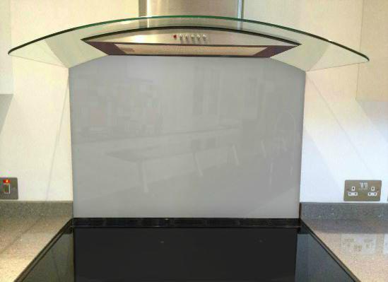 Picture of RAL White aluminium Splashback (RAL 9006)