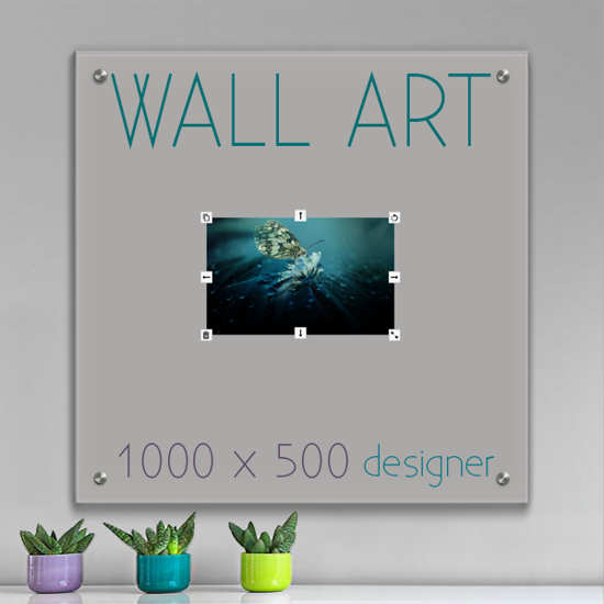 Picture of Glass Wall Art 100cm x 50cm