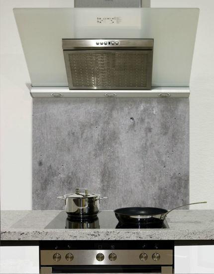 Picture of Polished Concrete Dark Splashback