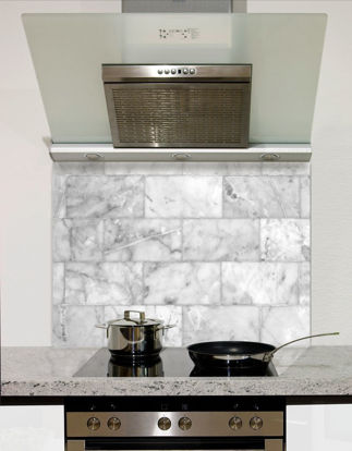 Picture of Marble block tiles Splashback