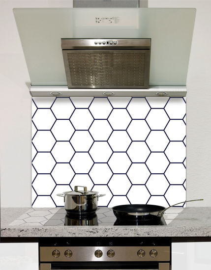 Picture of Hexagon pattern Splashback