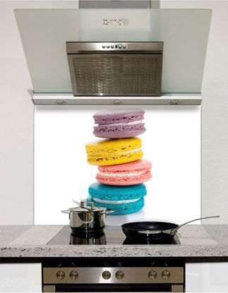 Picture of Macaroon Stack Glass Splashback (standard size)
